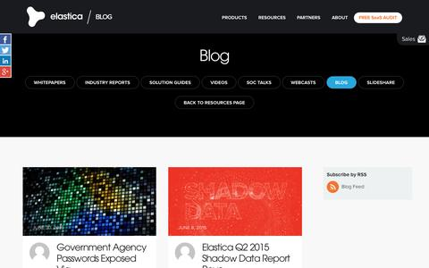 Screenshot of Blog elastica.net - Blog Archives - Elastica - captured July 3, 2015