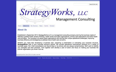 Screenshot of About Page google.com - About Us - StrategyWorks, LLC - captured Dec. 16, 2016