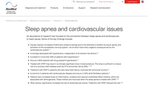 Cardiovascular research articles | ResMed