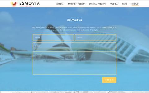 Screenshot of Contact Page esmovia.es - Contact – Esmovia - captured July 10, 2016