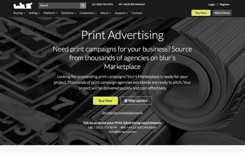 Print Advertising Services | blur Group
