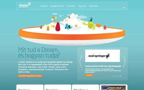 Screenshot of Home Page dream.hu - Dream Interactive // Digitális ügynökség - captured Oct. 9, 2018