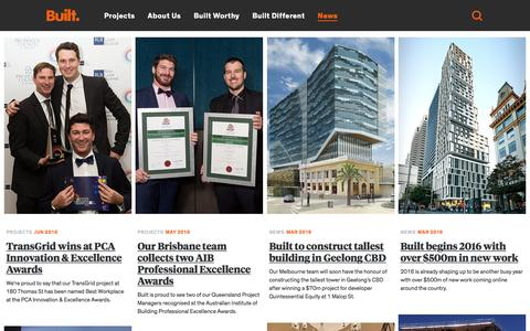 Screenshot of Press Page built.com.au - Built - captured July 30, 2016
