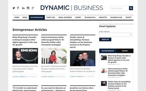 Screenshot of dynamicbusiness.com.au - Entrepreneur | Dynamic Business - captured Dec. 5, 2017