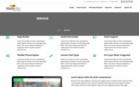 Screenshot of Services Page blazeclan.com - Services | BlazeClan - captured Oct. 5, 2014