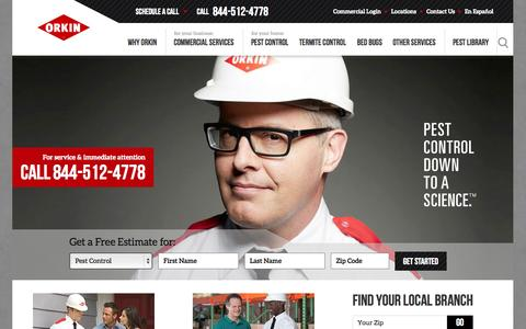Screenshot of Home Page orkin.com - Orkin Termite Treatment, Pest Control & Exterminator Service - captured Oct. 10, 2014