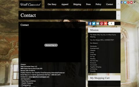 Screenshot of Contact Page wellconnectedgear.com - Well Connected GearWell Connected Gear - captured Nov. 3, 2014