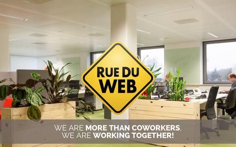 Screenshot of Home Page rueduweb.be - RueDuWeb - Espace coworking près de Louvain-la-Neuve - captured Jan. 11, 2016