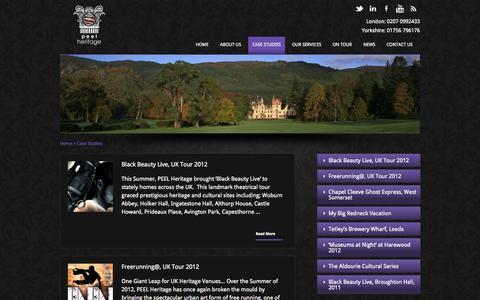 Screenshot of Case Studies Page peelheritage.com - Case Studies | Peel Heritage - captured Sept. 26, 2014