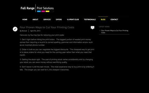 Screenshot of Blog fullrangeprintsolutions.co.uk - Blog - captured Oct. 6, 2014