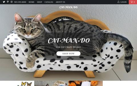 Screenshot of Home Page cat-man-do.com - cat-man-do - captured July 16, 2018