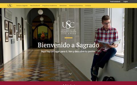 Screenshot of Home Page sagrado.edu - Universidad del Sagrado Corazón   Universidad del Sagrado Corazón - captured Feb. 16, 2016