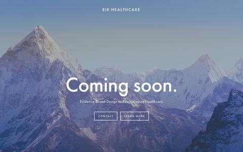 Screenshot of Home Page eirhealthcare.com - EIR HEALTHCARE - captured Oct. 10, 2016