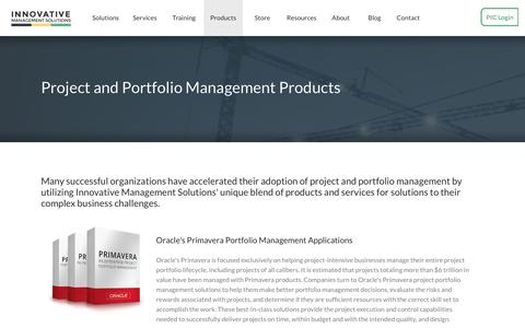 Screenshot of Products Page ims-web.com - Project and Portfolio Management Products | Innovative Management Solutions - captured May 21, 2017