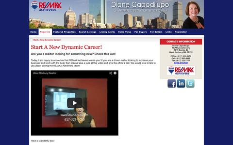 Screenshot of Jobs Page dianecap.com - Start a New Dynamic Career! - captured Oct. 26, 2014