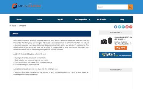 Screenshot of Jobs Page dealsandcouponz.com - Careers «  Home – Dealsandcouponz.com - captured Sept. 30, 2014
