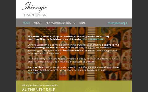 Screenshot of Home Page shinnyoenusa.net - Home   Shinnyo-en USA - captured Sept. 4, 2015