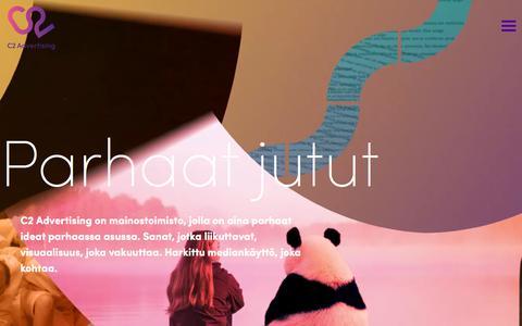 Screenshot of Home Page c2.fi - C2 Advertising - Mainostoimisto - captured Sept. 25, 2018