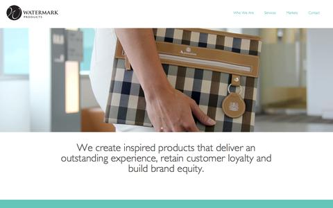 Screenshot of Home Page Services Page watermark.co.uk - Supplier to Airline and Retail, Creative Products, Manufacture, Global Sourcing Solutions - Watermark Products UK - captured Oct. 7, 2014