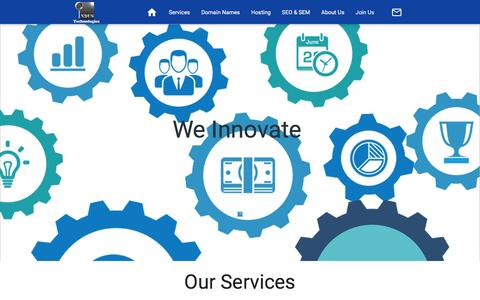 Screenshot of Services Page industechnologies.co - Indus Technologies   Our Services   Innovative Solutions   payment gateways   E-Commerce   Corporate Identity   Content Management System CMS   CSS animations and HTML 5 - captured Jan. 8, 2016