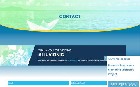Screenshot of Contact Page alluvionic.com - Contact Us | Alluvionic Project Management & Engineering - captured Oct. 8, 2017