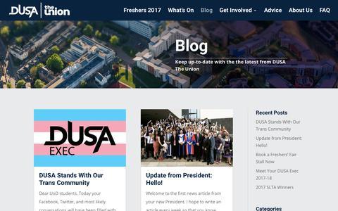 Screenshot of Blog dusa.co.uk - Blog   DUSA The Union - captured July 30, 2017
