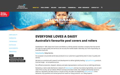 Screenshot of About Page daisypoolcovers.com.au - Swimming Pool Covers & Rollers | Daisy Pool Covers - captured July 6, 2017
