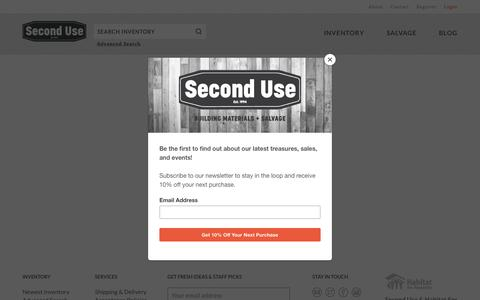 Screenshot of Login Page seconduse.com - Login | Second Use - captured July 25, 2019