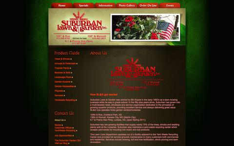 Screenshot of About Page suburbanlg.com - Suburban Lawn & Garden, locally grown plants and landscape supplies - captured Oct. 6, 2014