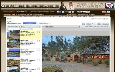Screenshot of Home Page scottsdaleparadisevalley.com - Scottsdale Paradise Valley Homes for sale in Arizona. Luxury homes, mansions and estates. - captured Feb. 25, 2016