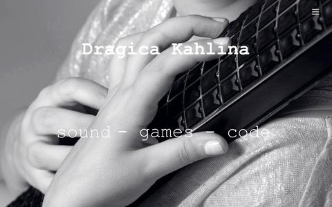 Screenshot of Home Page kahlina.com - Dragica Kahlina — sound – games – code - captured Sept. 12, 2015