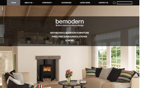 Screenshot of Home Page bemodern.com - Home - Bemodern - captured Feb. 7, 2016