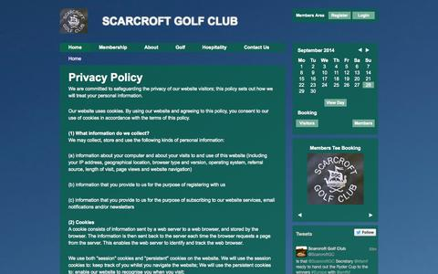 Screenshot of Privacy Page scarcroftgolfclub.co.uk - SCARCROFT GOLF CLUB - captured Sept. 30, 2014