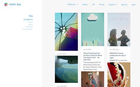 Screenshot of Blog lagoa.com - Blog   LAGOA - captured Sept. 13, 2014