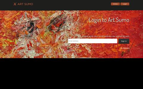 Screenshot of Login Page artsumo.com - Login to your account | Art Sumo - captured Sept. 11, 2014