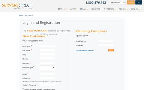 Login and Registration | serversdirect.com