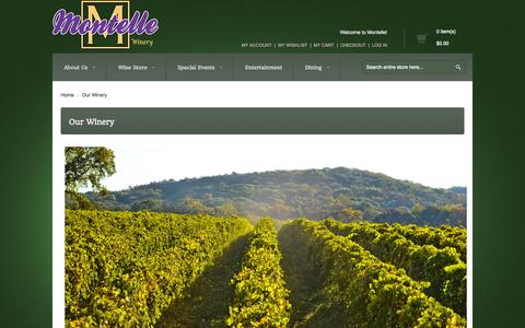 Screenshot of About Page montelle.com - Our Winery - captured Oct. 26, 2014