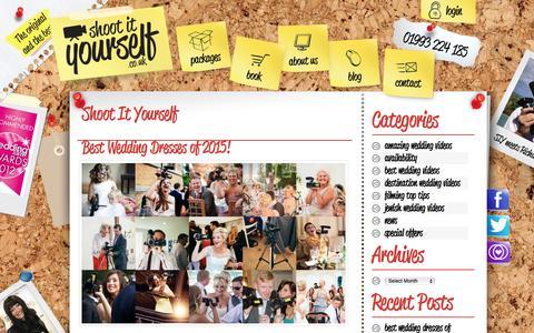 Screenshot of Blog shoot-it-yourself.co.uk - Shoot It Yourself - captured May 29, 2016