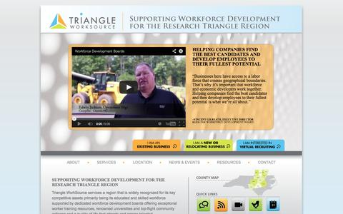 Screenshot of Home Page triangleworksource.com - Triangle Work Source - captured Oct. 7, 2014