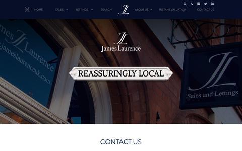 Screenshot of Contact Page jameslaurenceuk.com - Contact Us | James Laurence Estate Agents - captured Sept. 24, 2018