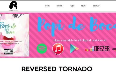 Screenshot of Home Page reversedtornado.com - reversedtornado - captured June 17, 2017