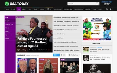 Screenshot of Team Page usatoday.com - Celebrity Photos, Videos and Interviews - USATODAY.com - captured Feb. 5, 2016