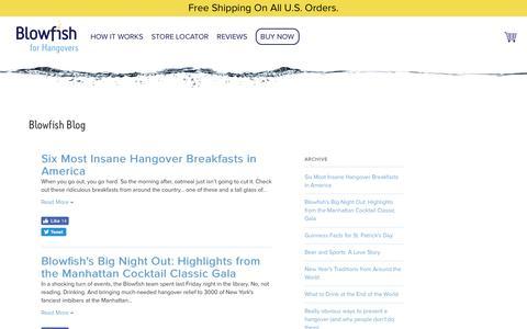 Screenshot of Blog forhangovers.com - Blowfish for Hangovers — Blowfish Blog - captured Sept. 5, 2016