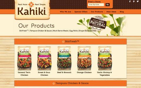 Screenshot of Products Page kahiki.com - Our Products  |  Kahiki - captured Nov. 3, 2014