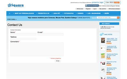 Screenshot of Contact Page squarevendas.com.br - Magento Commerce - captured Oct. 7, 2014