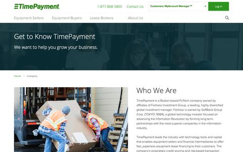 Screenshot of About Page timepayment.com - Company | TimePayment - captured March 26, 2019