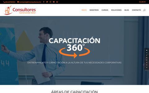 Screenshot of Home Page hiconsultores.mx - Hi consultores   Consultoría para Negocios en Efectividad Organizacional - captured Sept. 15, 2019