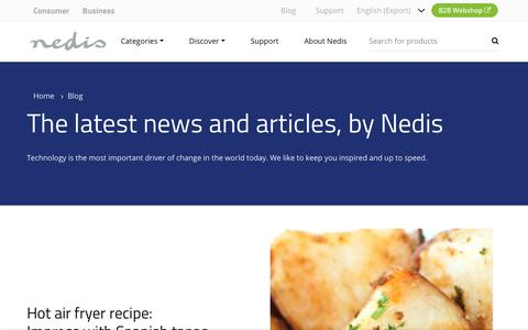 Screenshot of Blog nedis.com - The latest news and articles, by Nedis | Nedis - captured Nov. 7, 2018