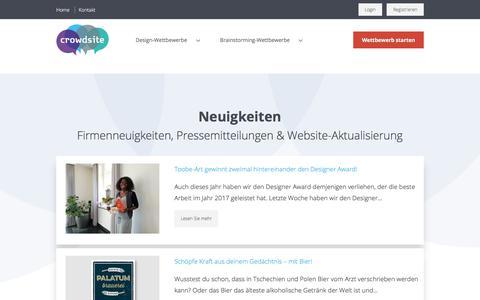 Screenshot of Blog crowdsite.de - Neuigkeiten - Crowdsite - captured May 1, 2018