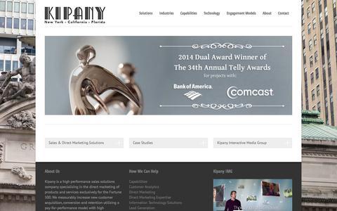 Screenshot of Home Page kipany.com - Kipany | Home - Kipany - captured Oct. 6, 2014